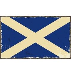 Scottish grunge flag vector