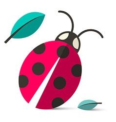 Ladybird - ladybug isolated on white backgro vector