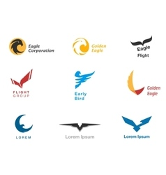 Birds branding symbols set vector