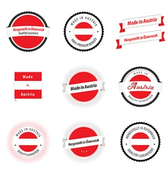 Made in austria labels badges and stickers vector