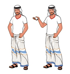 Handsome arabic man vector