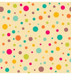 Bright seamless pattern with polka dots vector