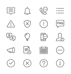 Information and notification thin icons vector