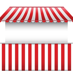 Stall with striped awning vector