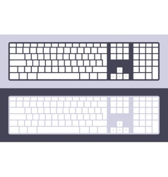 Pc keyboard vector