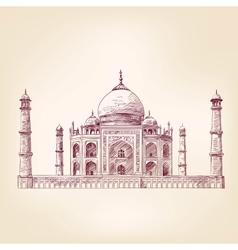 Taj mahal india vector