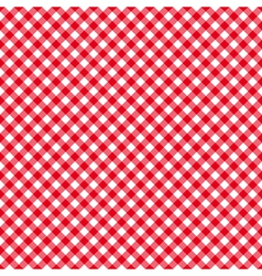Table cloth seamless pattern red diagonal vector