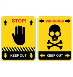 Stop keep out sign vector