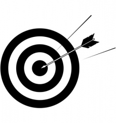Target and arrow vector