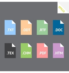 Text file formats vector