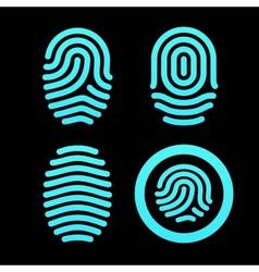 Set of fingerprints vector