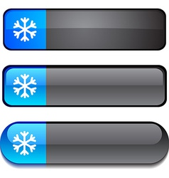 Snowflake button set vector