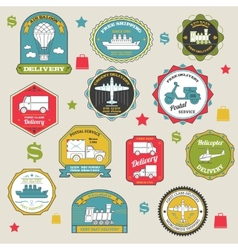 Delivery emblems colored vector