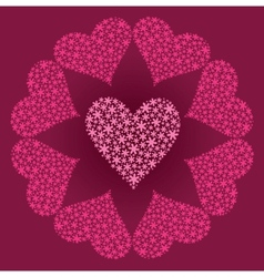 Heart from flowers vector