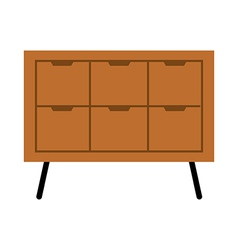 A drawer is placed vector