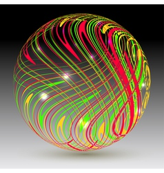 Abstract sphere on a black background vector