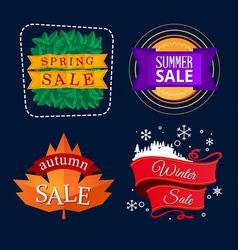 Various seasonal sale event tittle vector