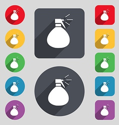 Plastic spray of water icon sign a set of 12 vector