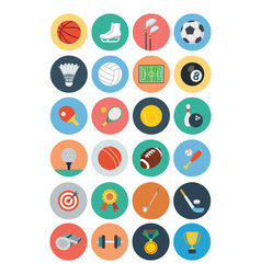 Flat sports flat icons 1 vector