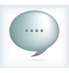 Silver speech bubbles vector