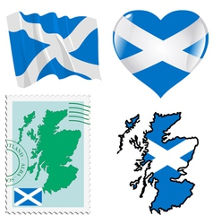 National colours of scotland vector