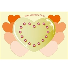 Romantic golden heart which symbolizes the love vector