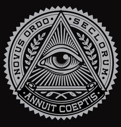 All seeing eye vector