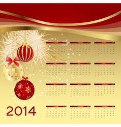 2014 new year calendar vector