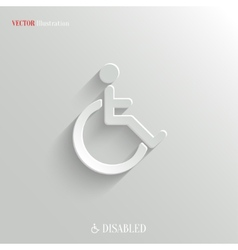 Disabled icon - white app button vector