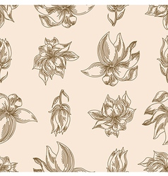 Flower floral seamless background vector