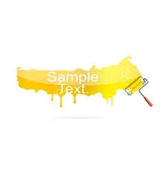 Shiny brush tool yellow color isolated vector