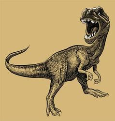 Dinosaur drawing vector