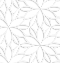 White floral detailed seamless vector