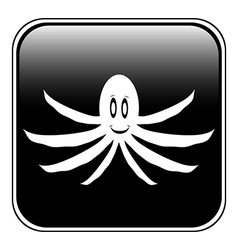 Octopus button vector