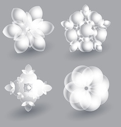 Beautiful ice flowers collection vector