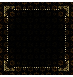 Black card with gold frame vector