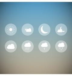 Light weather icons vector