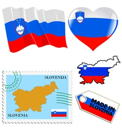 National colours of slovenia vector