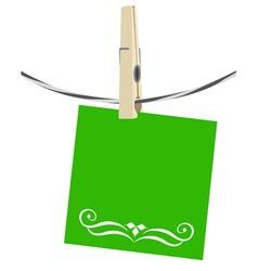 Clothesline paper vector