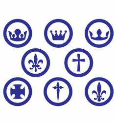 Heraldry emblems vector