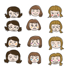 Emotion face vector