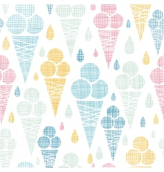 Ice cream cones textile colorful seamless pattern vector