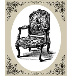 Baroque armchair vector