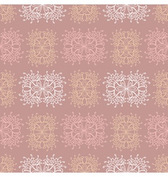 Brown ethnic lace seamless pattern vector