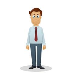 Businessman in white shirt vector