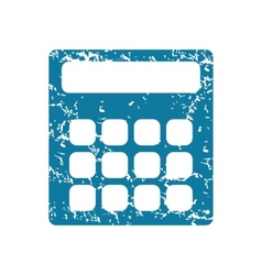 Calculator grunge icon vector