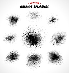 Set of grunge splashes vector