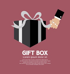 Gift box unboxing vector