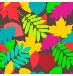 Fall pattern seamless background of autumnal vector