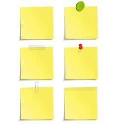 Set of yellow notes vector